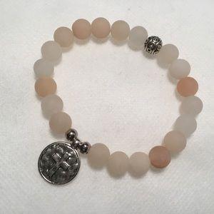 """Cross"" Natural Stone Bracelet"